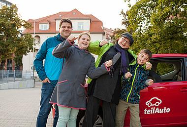 Die Familie Kabuß aus Dresden nutzt Carsharing mit Freude!